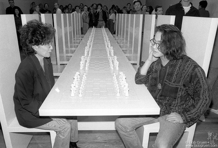 Yoko & Sean Playing Chess 1991 by Bob Gruen