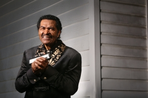 "Bobby Rush at the Mississippi Agriculture and Forestry Museum, 1150 Lakeland DriveJackson, Mississippi 39216. Photos for the album ""Sitting on top of the Blues."" © photo by Bill Steber"