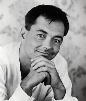 Rich Mullins black and white short hair
