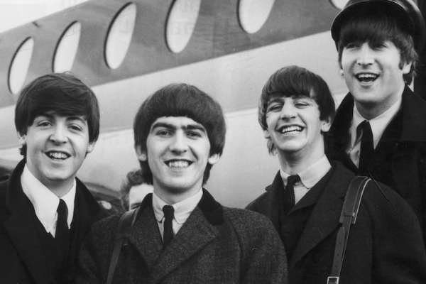 The Beatles Airplane 1964 Evening Getty