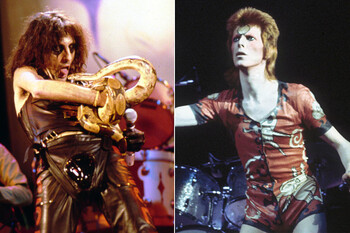 alice cooper david bowie theatrical performance 70s